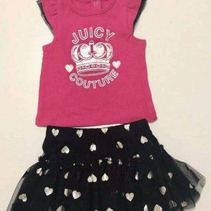Brand-new juicy couture party set top & tutu skirt